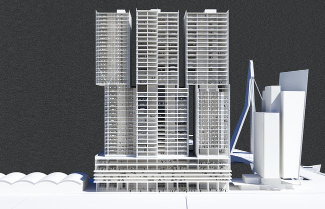 Perspective - Long Section. © OMA
