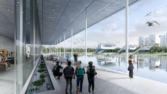 """Lingang """"bird airport"""" park. Image credit: McGregor Coxall."""