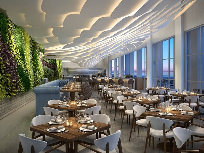 Brezza Restaurant Conrad Fort Lauderdale Beach Resort Marc Fugnitto Archinect