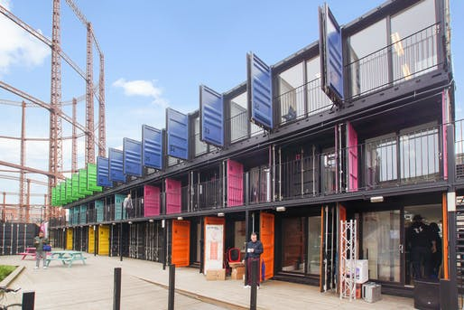 Containerville Open Studios, part of the London Design Festival. Image: Containerville