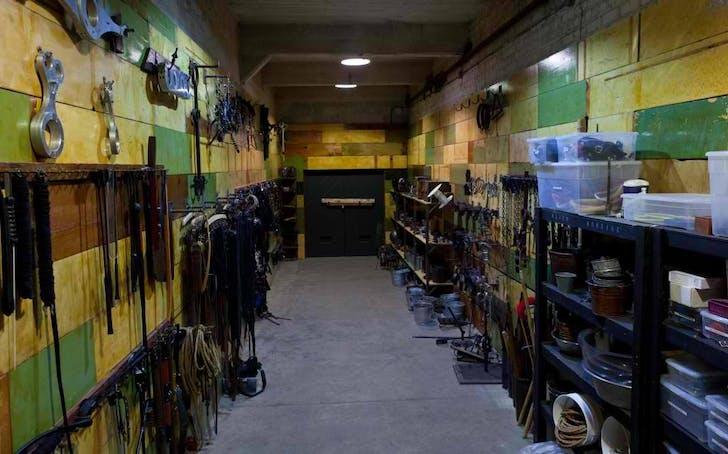 The 'Bondage Wall' set. Image courtesy Kink.com