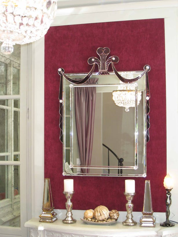 Foyer mirror. From the Antique store in the corner. An inspiration for the project.