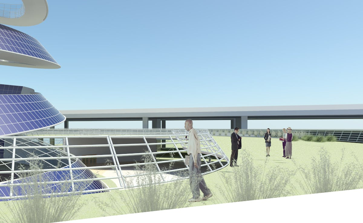 The Solar Spiral Urban Mixed Use Pv Power Plant To