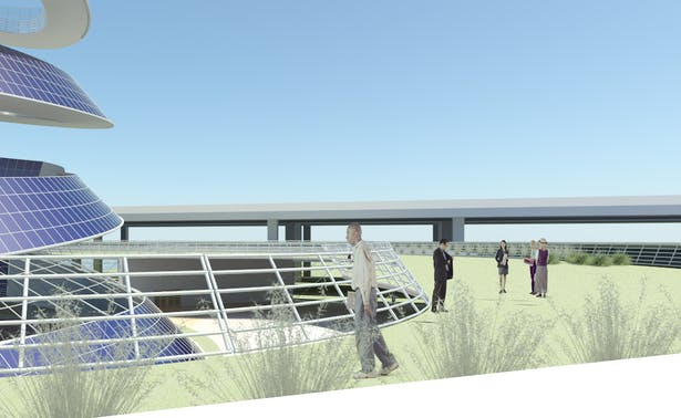 Solar Spiral, public roof garden