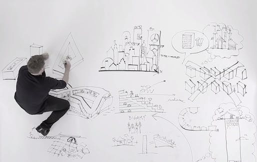 Screen shot from 'Worldcraft: Bjarke Ingels (Future of StoryTelling 2014)'