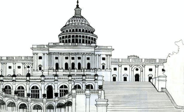 Capitol Building sketch