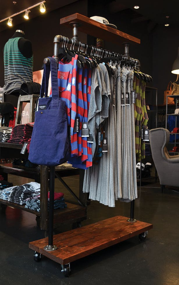 Moveable Clothing Display Unit