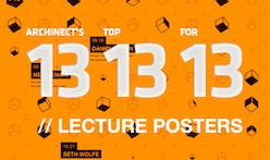Archinect's Top 13 Lecture Posters for '13