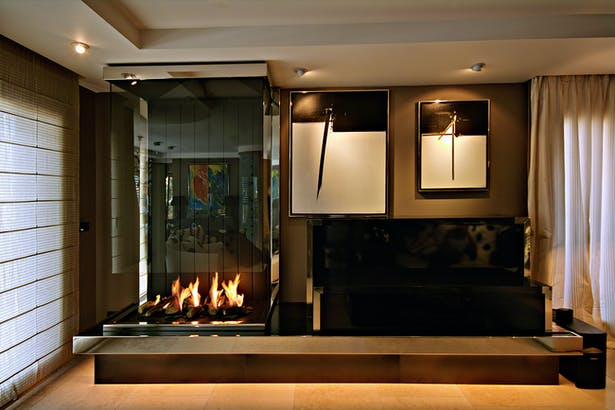 Bloch Design contemporary fireplace 1