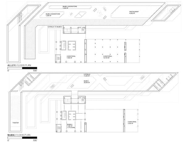 Fifth Floor Plan - Alley 3 and Sixth Floor Plan - MoMA 3
