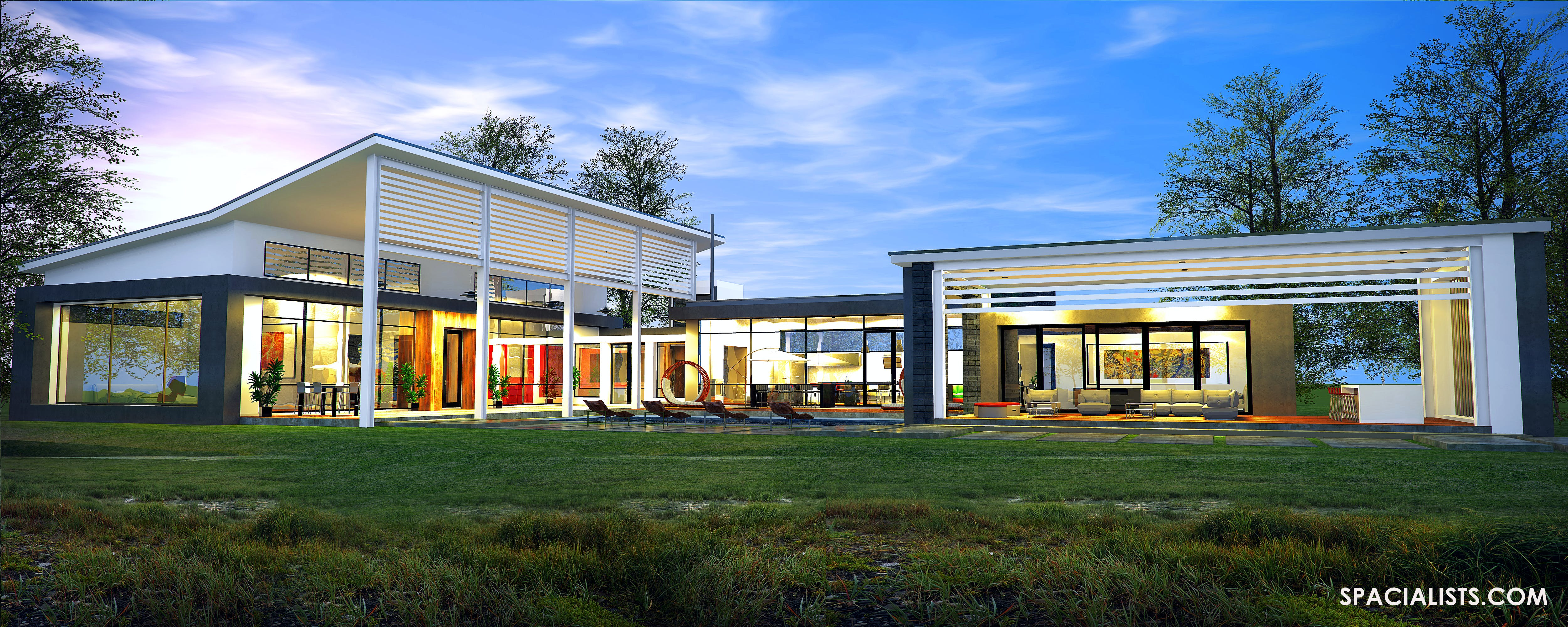 3d Rendering Modern Cape Cod Design Spacialists