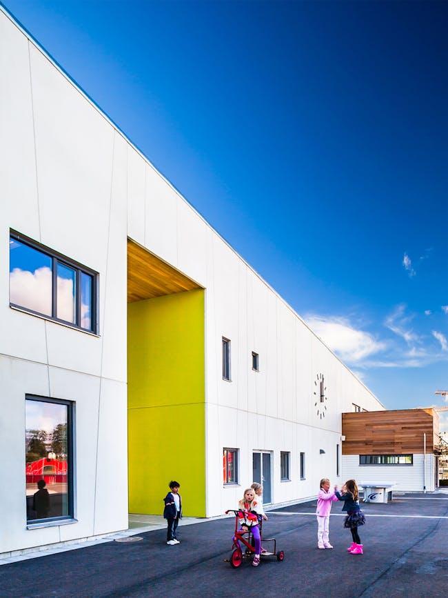Fladängskolan in Lomma, Sweden by Link Arkitektur; Photo: Hundven-Clements Photography