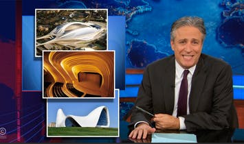 "Unnecessary Muffness; Jon Stewart discusses Zaha's ""f**kable buildings"""