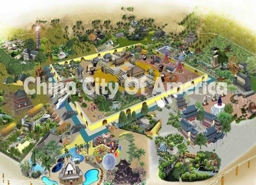 "Conceptual image of ""China City of America"", via The Atlantic Cities."