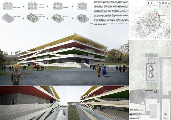 'Chandigarh Unbuilt' 1st place winning team: He Dongming, Tong Hubo, Li Dean | China. Image courtesy of Archasm.