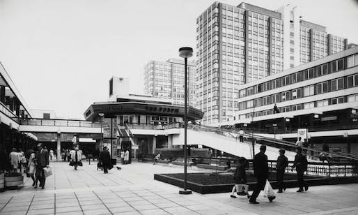 Image: Croydon's Whitgift shopping centre, filming location of the opening credits to BBC sitcom Terry and June. Fox Photos/Getty, Image via Theguardian.com