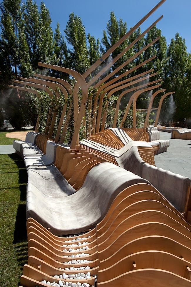Unite/Unire (winner of the MAXXI Young Architects Program 2012) in Rome, Italy by Urban Movement Design New York (team member: Michael Caton); Image courtesy of MAXXI Museum, Urban Movement Design, photo by Cecilia Fiorenza