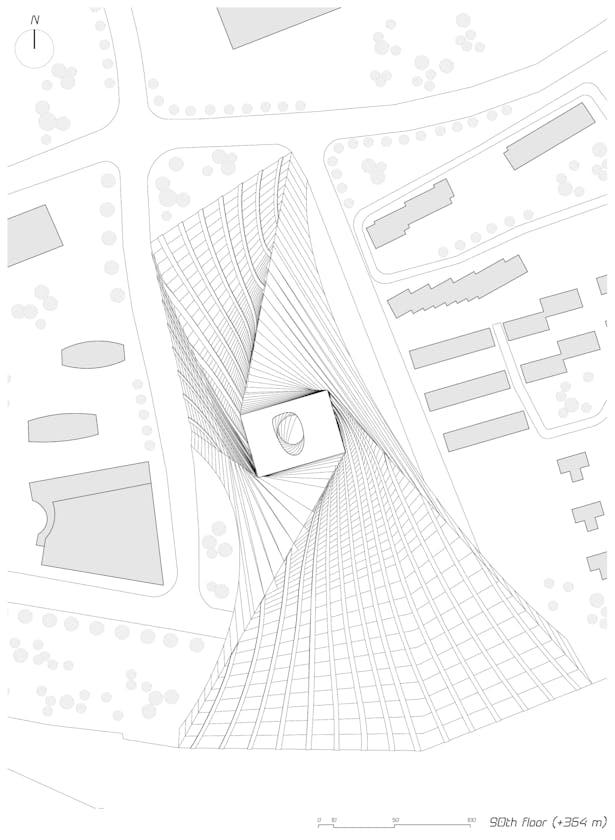 90th floor plan