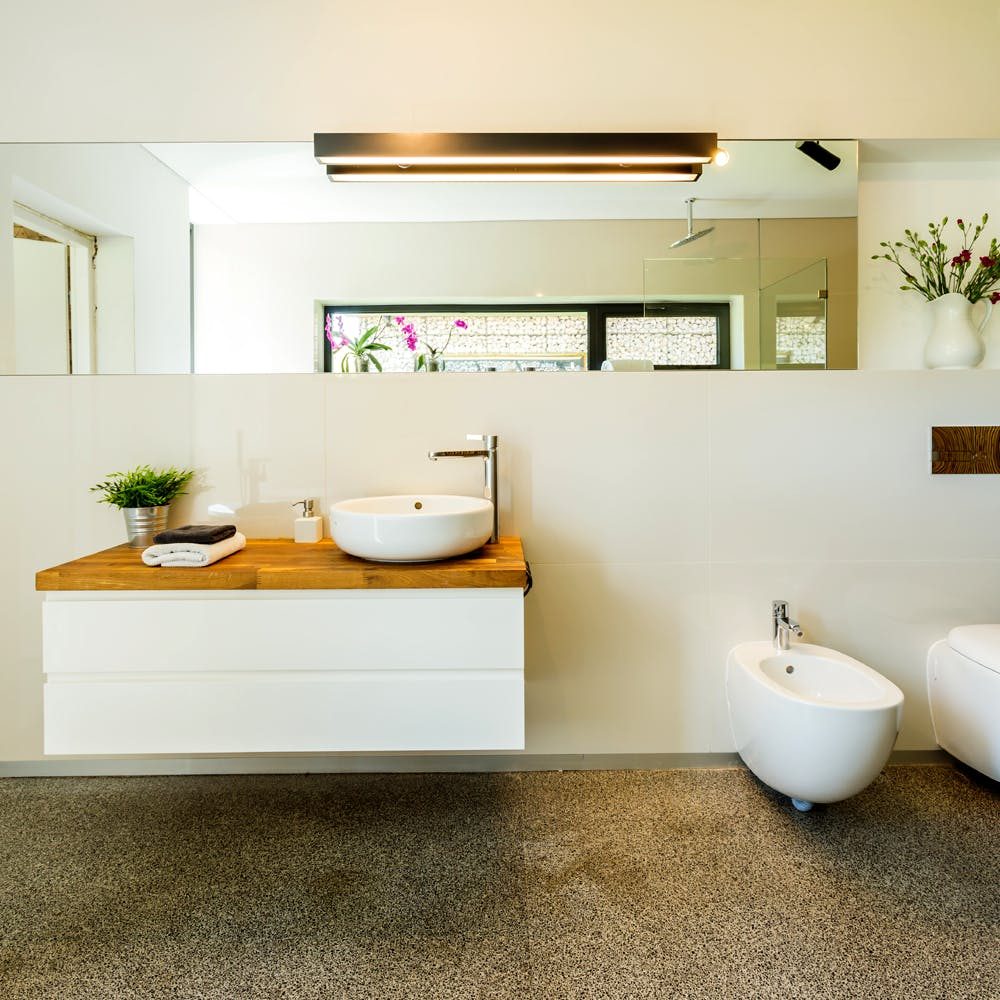 Minimal Zen Bathroom | NS Designs | Archinect