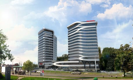 New residential complex 'Maestro' is in progress. Is going to be built in 2020 in Minsk, Belarus