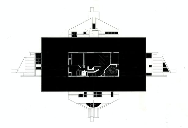 Ink on Mylar - Vanna Venturi House
