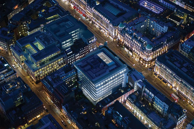 Future project commercial mixed-use winner: New office in Central London, UK by Allford Hall Monagh. Image courtesy of WAF.