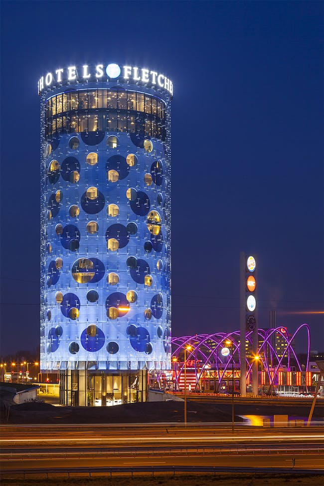 Fletcher Hotel in Amsterdam, the Netherlands by Benthem Crouwel Architects; Photo: Jannes Linders