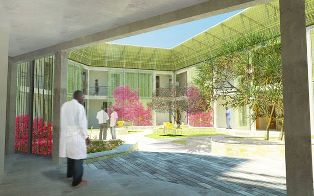 Courtyard Rendering from the Ground Floor