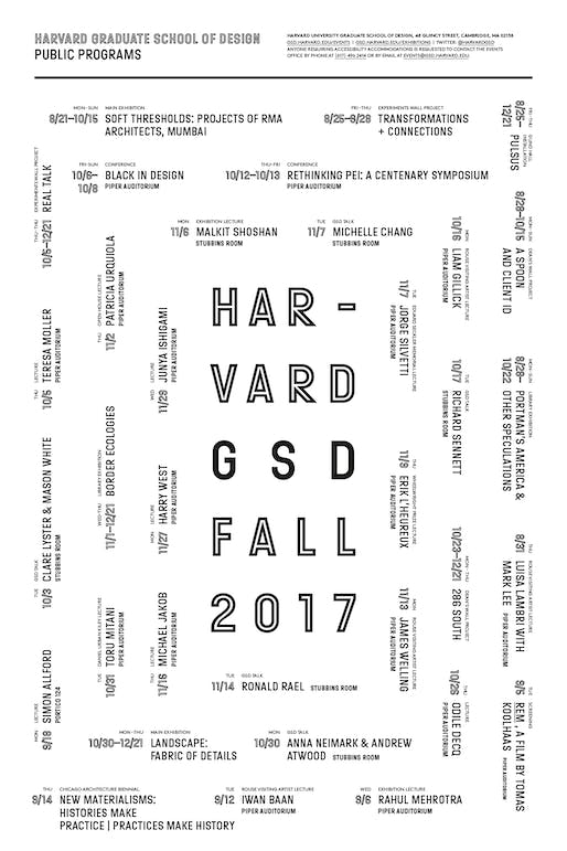 Poster design by Remeike Forbes, courtesy of Harvard GSD.