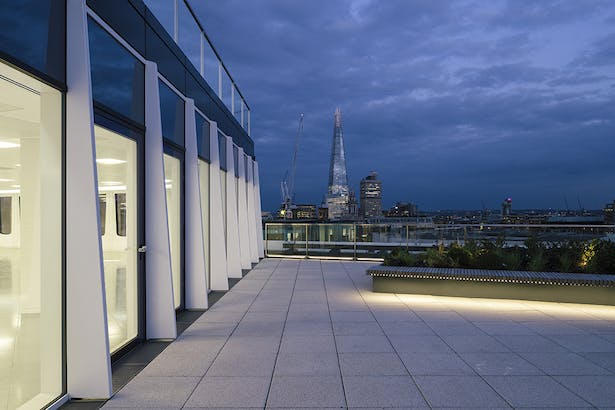 View of the Shard from the new roof terrace