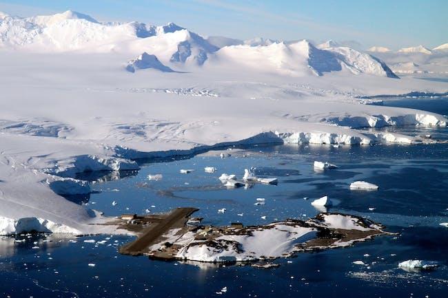 Aerial view of the British Antarctic Survey research station at Rothera. Image via bas.ac.uk.
