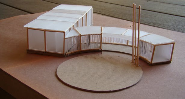 Study model, view from the 'main' open stage