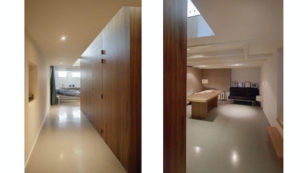 wooden cube - working space & guest room – basement floor