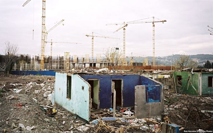 Former Sochi dwellings turned into construction collateral damage. Photo: Rob Hornstra.