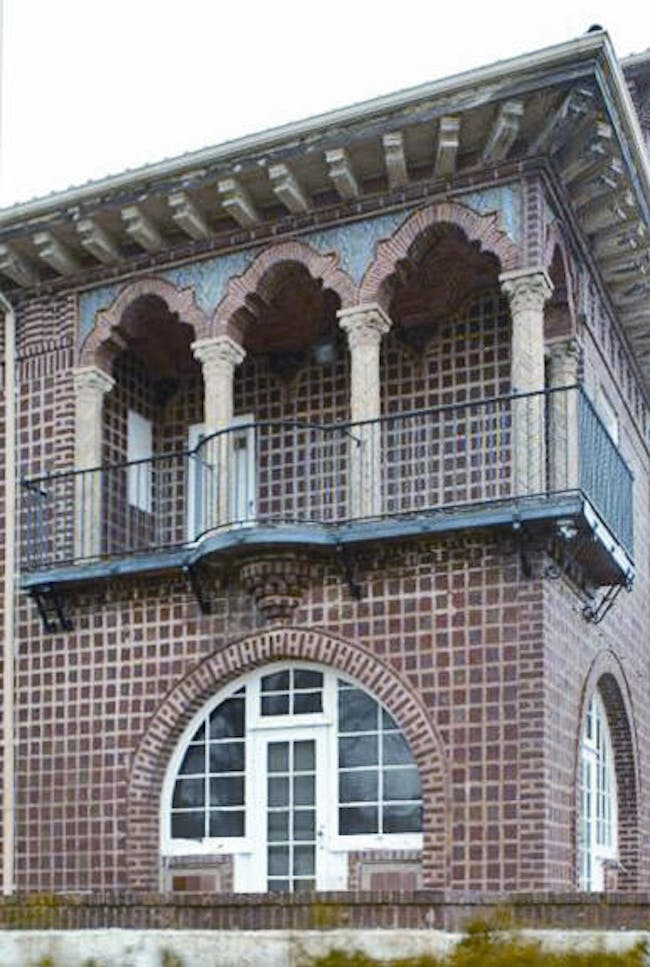 Guastavino Jr.'s residence on Bay Shore, Long Island was built almost entirely in tile vaulting. This Mediterranean-style villa was designed by Guastavino Jr. and his friend architect Henry Hornbostel. Photo © Michael Freeman. Courtesy of the Museum of the City of New York
