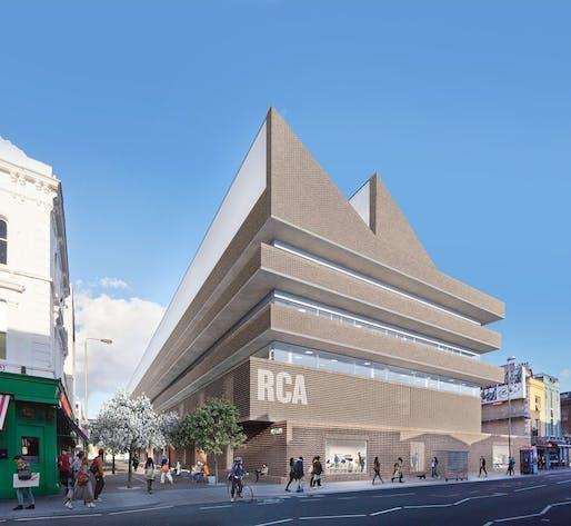 The Herzog & de Meuron-designed proposal for Royal College of Art Battersea South Campus © Herzog & de Meuron
