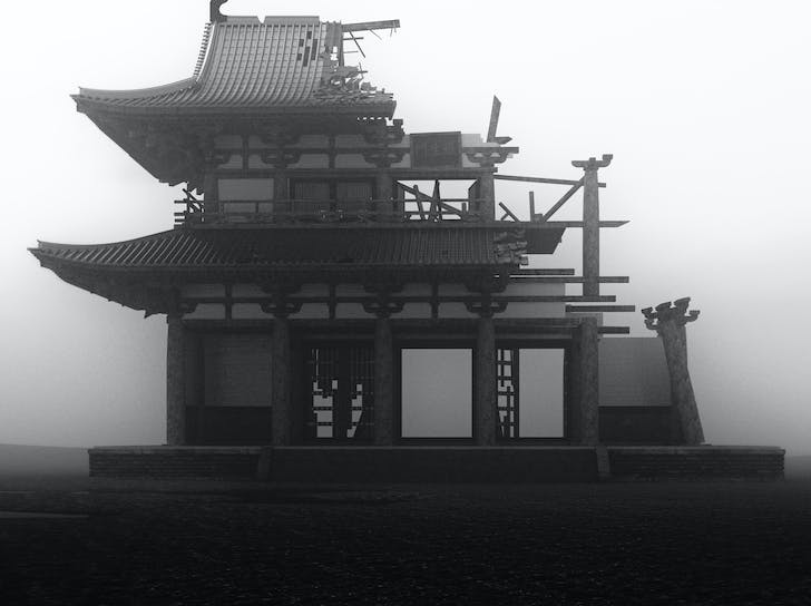 A digital render of the famous Rashomon Gate, used in a recent video by Melia. The gate, depicted in Akira Kurosawa's 1950 film, was a ruin by the 12th century where people would abandon corpses and unwanted babies. While no longer standing, the ruin remains a potent symbol (of ruination) in...