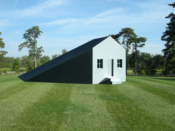 The Shadow House, a public conceptual art installation.