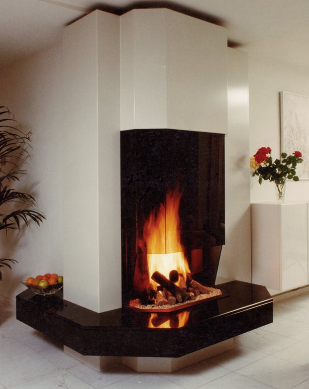 Bloch Design corner fireplace