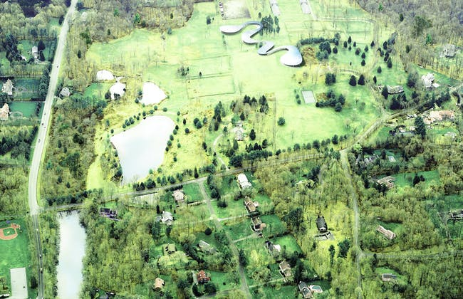 Aerial rendering of Grace Farms. Image courtesy of Grace Farms and SANAA
