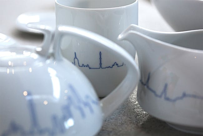 'BIG Cities' collection by BIG + KILO in collaboration with porcelain manufacturer Porcelain. Photo courtesy of BIG.