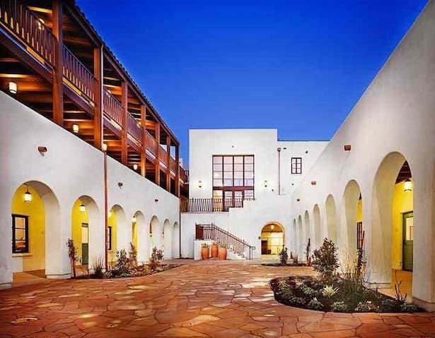 View of Main Courtyard.