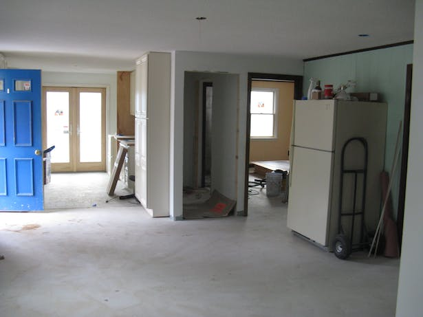 Kitchen and Living Room - Under Construction