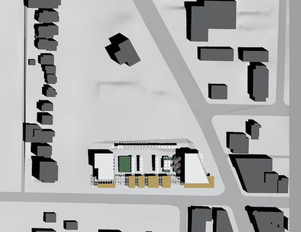 Site Plan, drawn in Rhino