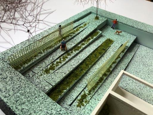 Model - Garden with ramp. Image courtesy of BRANDT: HAFERD.