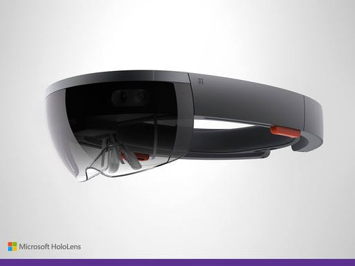 Microsoft promises that its new HoloLens headset will revolutionize the way we interact with computers. Image source: Microsoft