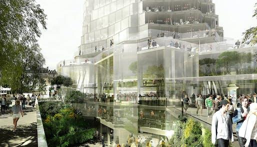 Plaza lobby level. Image © Studio Gang.