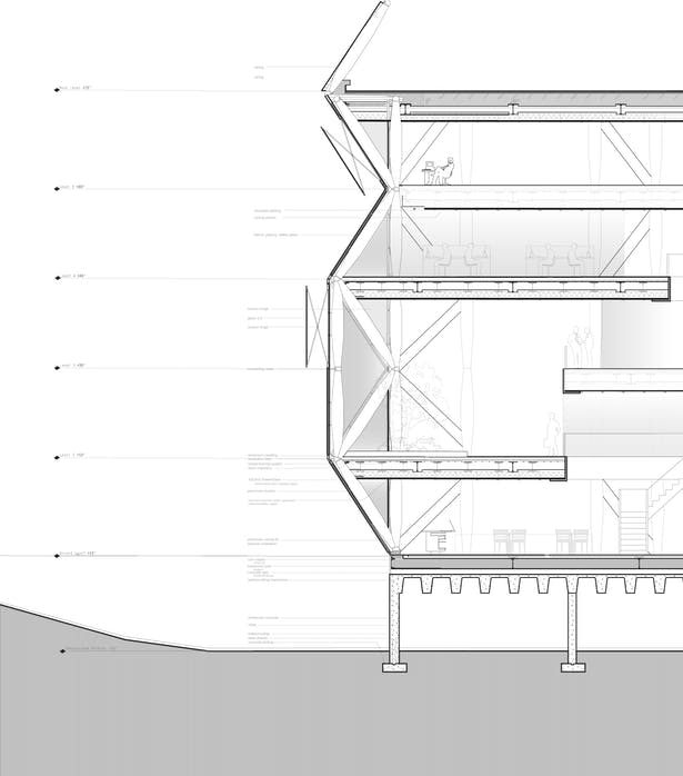 Sgambati & Sherrer_World Wildlife Fund Headquarters_detailed section_working drawing