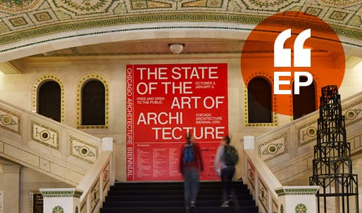 Entrance to the Biennial. Photo by Steve Hall, courtesy of the Chicago Architecture Biennial