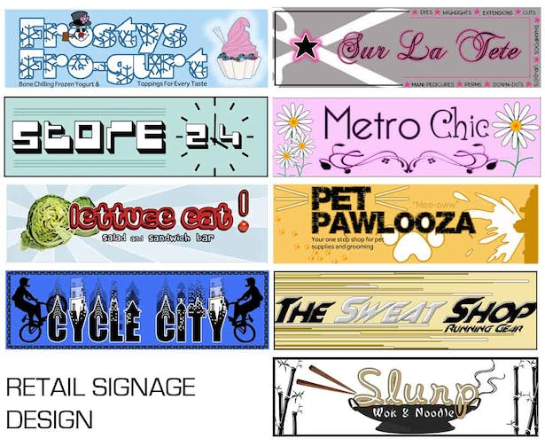 Signage for Retail Spaces